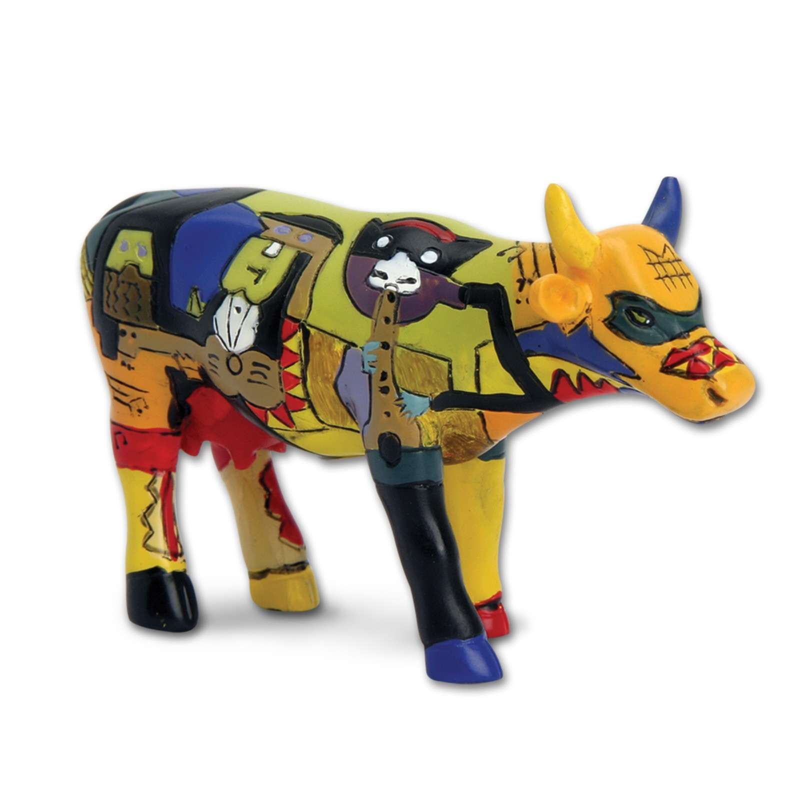 Design Kuh mit Picasso Musiker 4,5cm Köthen Kuhparade KOS001