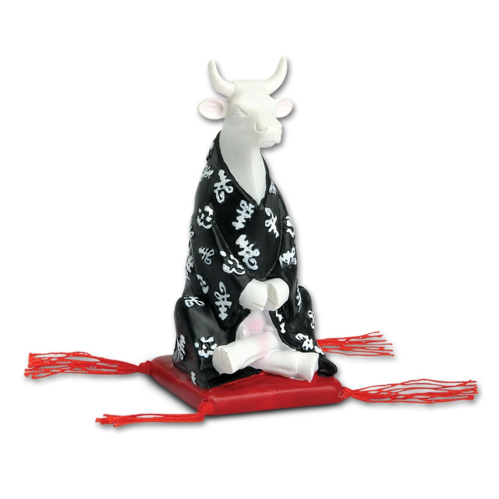Meditierende Design Kuh mit Kimono 4,5cm Köthen Kuhparade KOS003
