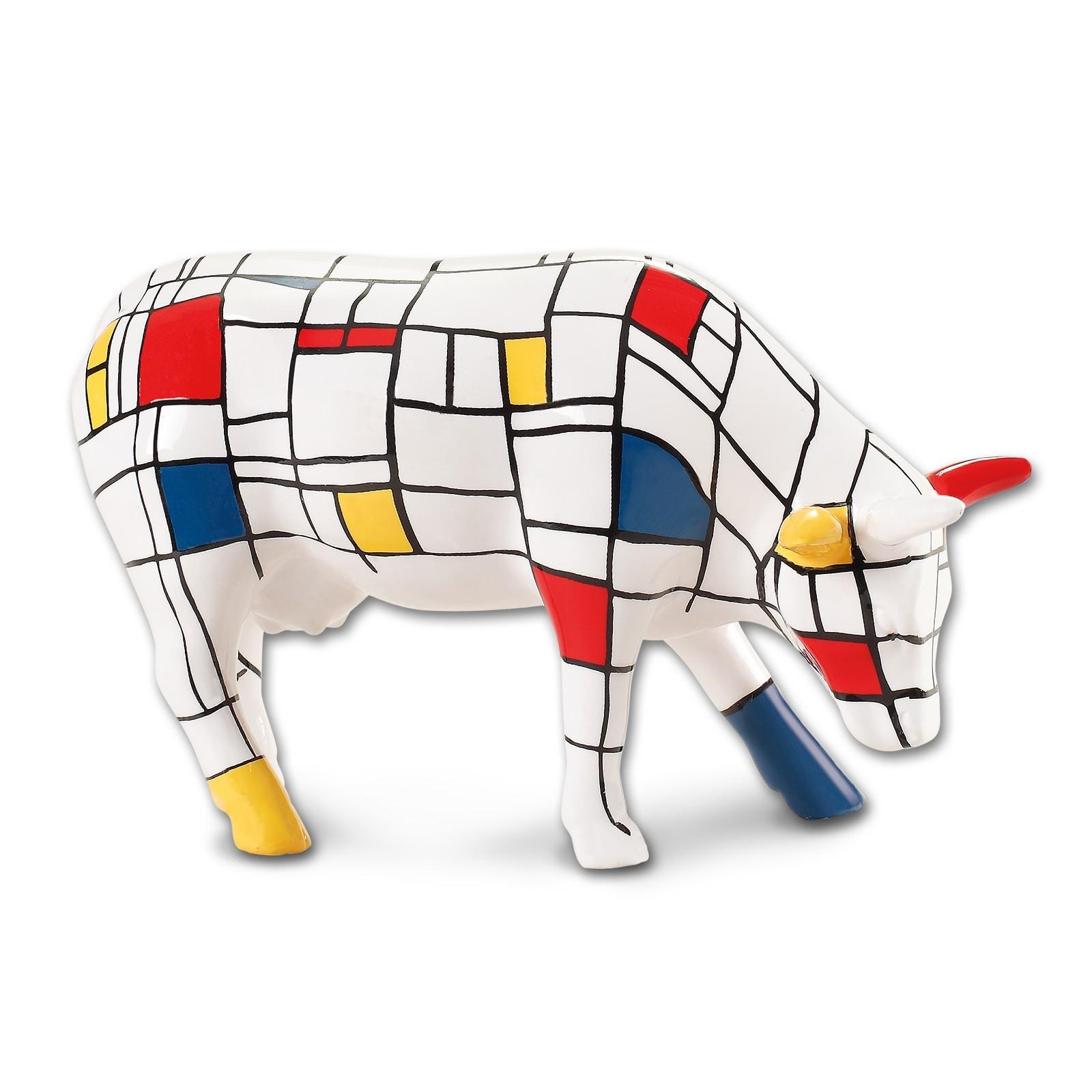 Design Kuh mit geometrischem Farbmuster 4,5cm Köthen Kuhparade KOS004