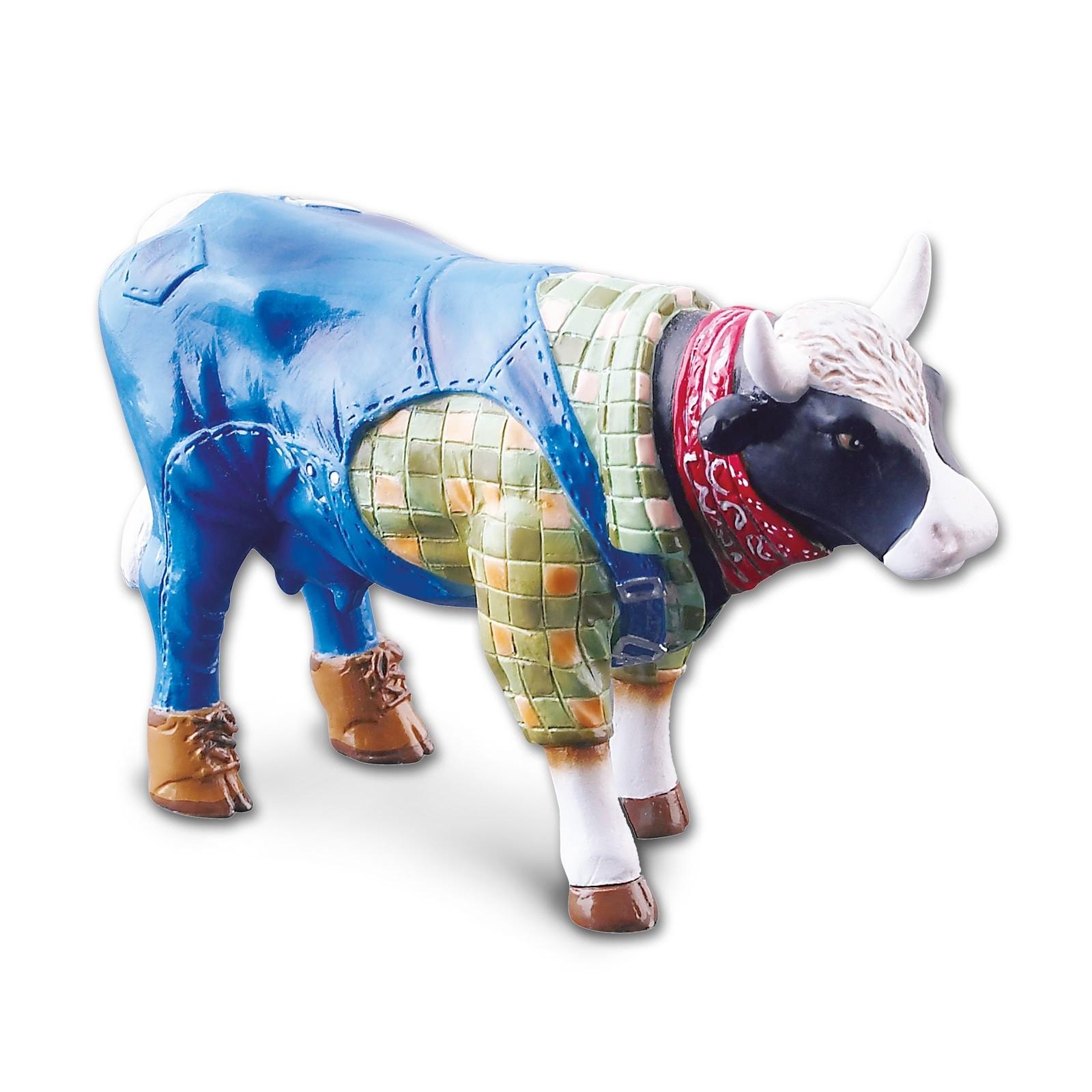Design Kuh als Bauer mit Latzhose 4,5cm Köthen Kuhparade KOS005