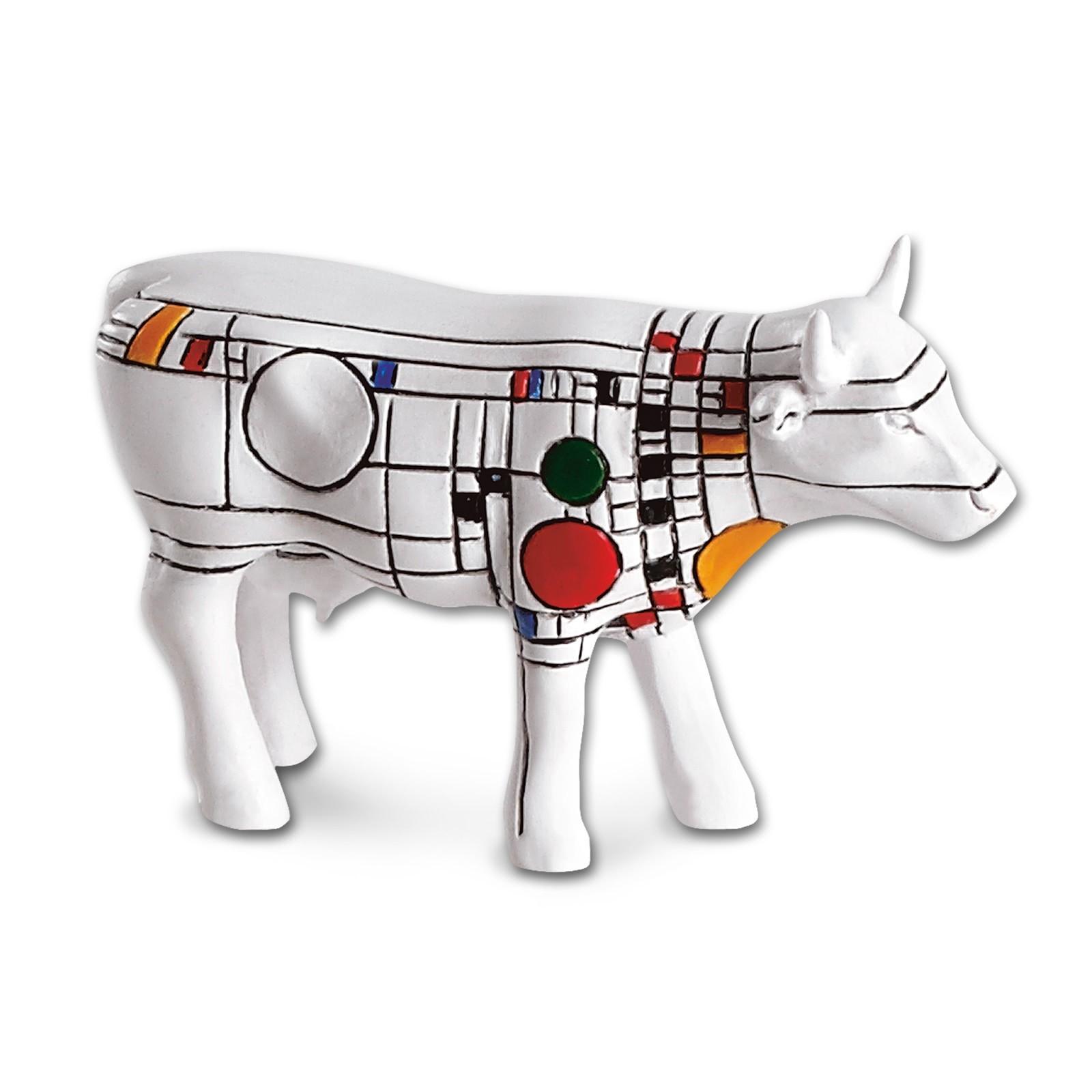 Design Kuh mit farbigem Muster 4,5cm Köthen Kuhparade KOS008