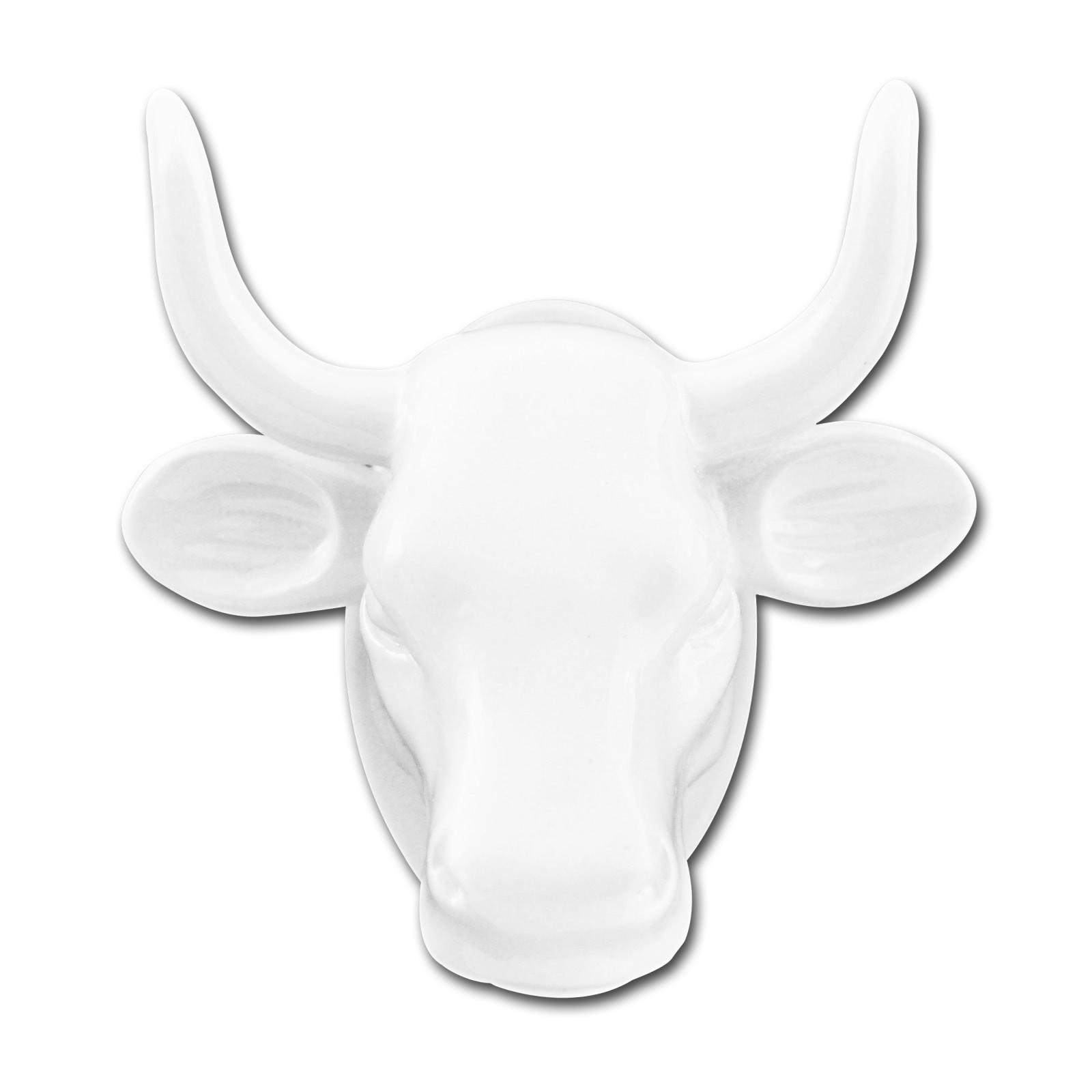 Magnet Kuh-Kopf weiß Kühlschrankmagnet Köthen Kuhparade KOS501W