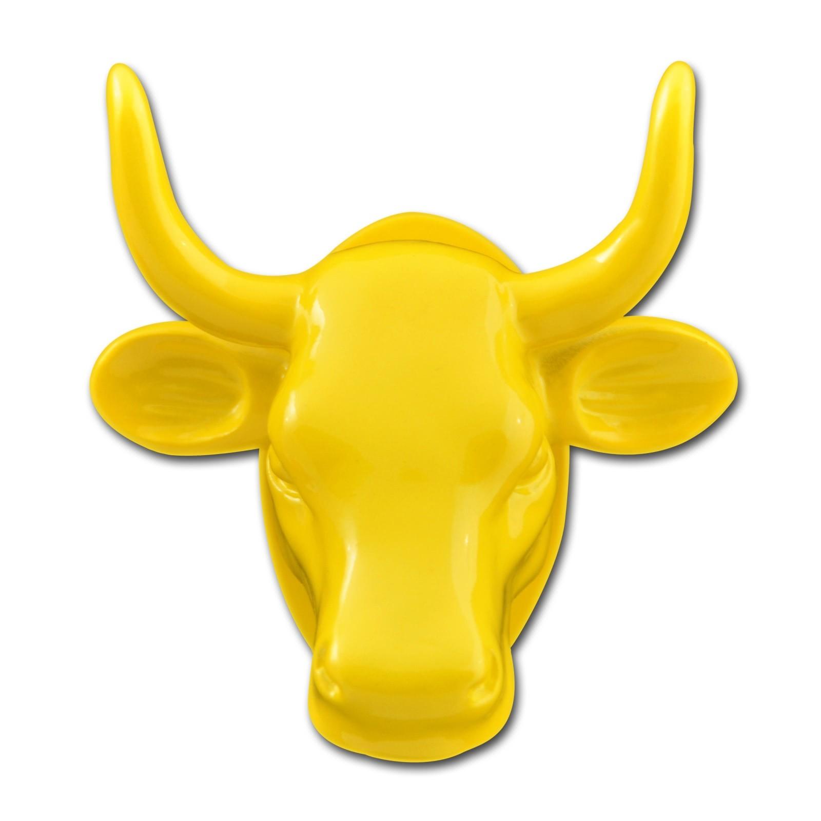 Magnet Kuh-Kopf gelb Kühlschrankmagnet Köthen Kuhparade KOS501Y