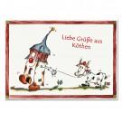 Postkarte mit Halli und Kuh-Köthen zum Sammeln oder Verschicken KOM041