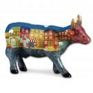 Design Kuh mit Straßenansicht 10cm Köthen Kuhparade KOS105