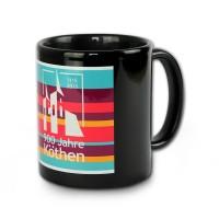 Kaffeebecher - 900 Jahre Köthen - 2015 - Keramik Tasse schwarz KOK41S