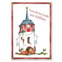 Postkarte aus Köthen mit Halli zum Sammeln oder Verschicken KOM043