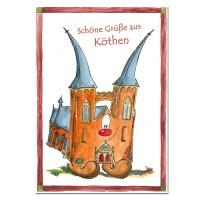 Postkarte aus Köthen mit Jakob zum Sammeln oder Verschicken KOM045