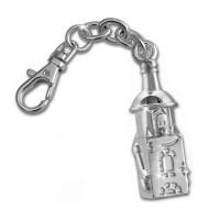 Schlüsselanhänger Halli Köthen Maskottchen aus Metall versilbert KOM07J
