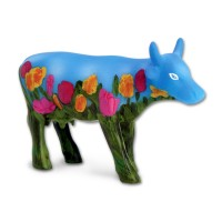 Design Kuh mit Sommerblumen 4,5cm Köthen Kuhparade KOS002