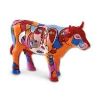 Design Kuh als Picasso Gemälde 4,5cm Köthen Kuhparade KOS006