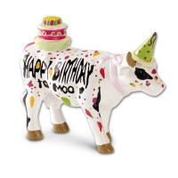 Design Kuh als Happy Birthday Moo 4,5cm Köthen Kuhparade KOS007