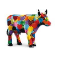 Design Kuh mit bunten Herzen 4,5cm Köthen Kuhparade KOS011