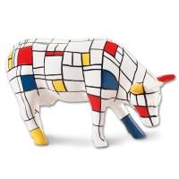 Design Kuh mit geometrischem Farbmuster 10cm Köthen Kuhparade KOS102