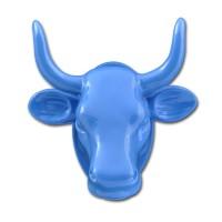 Magnet Kuh-Kopf blau Kühlschrankmagnet Köthen Kuhparade KOS501B