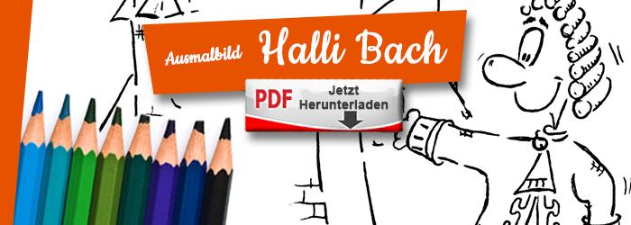 Halli und Johann Sebastian Bach als Ausmalbild PDF herunterlanden