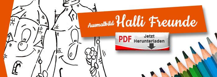 Halli und Magda sind Freunde als Ausmalbild PDF herunterlanden