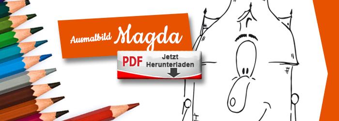Magda als Ausmalbild PDF herunterlanden
