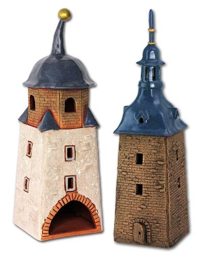 Köthener Stadttürme aus Keramik