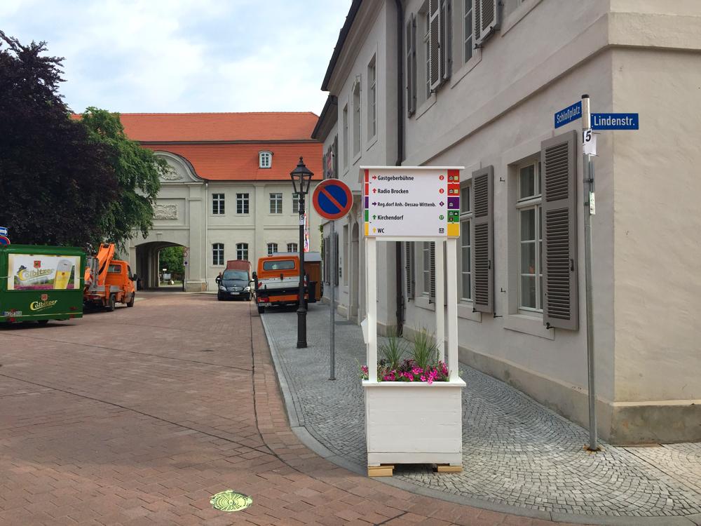Aufbauarbeiten Schlossplatz