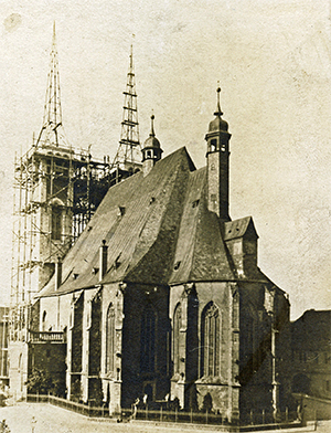 Bau der Doppeltürme